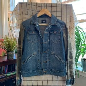 Army Pattern Jean Jacket